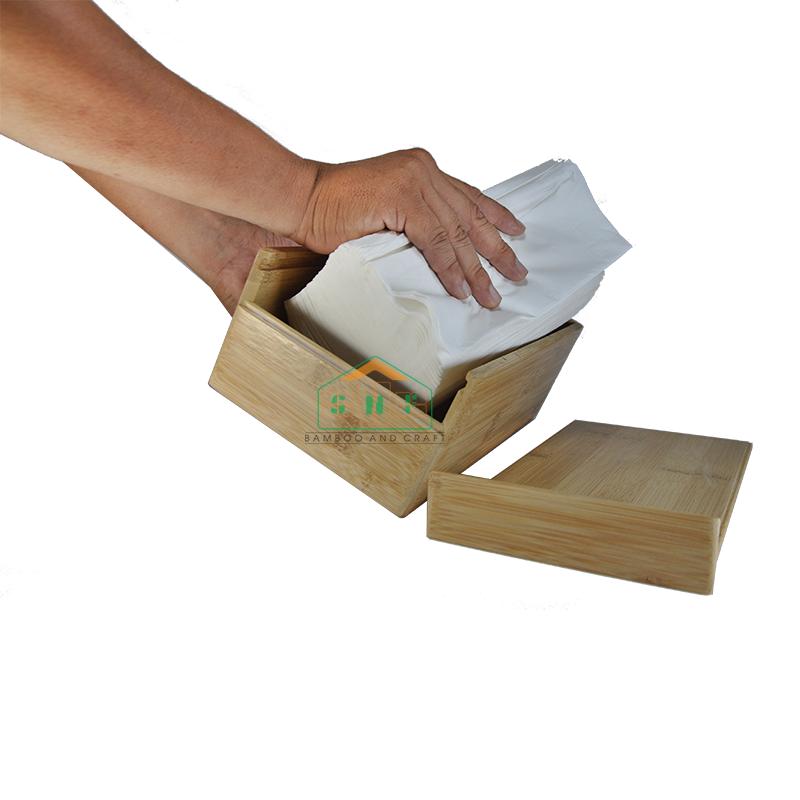 Hướng dẫn thay giấy ăn trong hộp khăn giấy tre