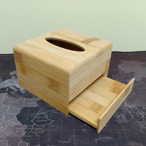 Hộp đựng khăn giấy vuông bằng gỗ tre sang trọng, thân thiện môi trường – SNF Bamboo and Craft