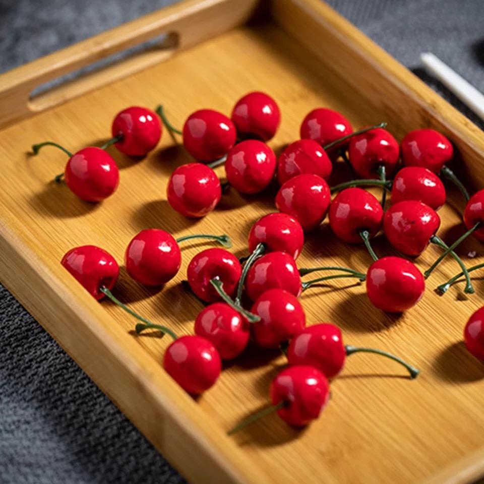 Khay gỗ tre đựng trái cây