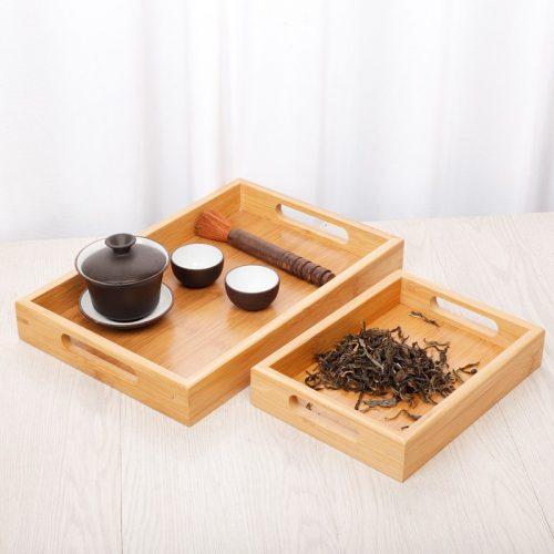 Khay gỗ tre trà đạo SNF Bamboo and Craft