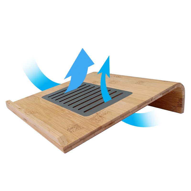 Kệ đỡ laptop bằng gỗ tre nâng laptop aircooler